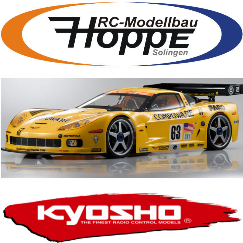 kyosho karosserie 1 8 chevrolet corvette c6 r. Black Bedroom Furniture Sets. Home Design Ideas