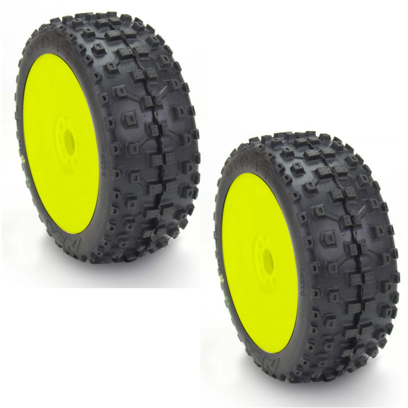 aka 1 8 buggy reifen evo gelb moto soft 2 stk aka14010sry. Black Bedroom Furniture Sets. Home Design Ideas