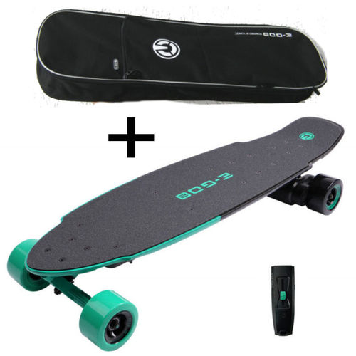 Yuneec E-GO 2 Elektro Skateboard Long Board Royal Wave gruen EGO2CREU002 Tasche