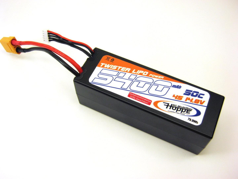 Modellbau Akku Lipo ~ Lipo akku 4s 14 8v 50c 5400 mah xt 90 stecker power racing c 49012 x