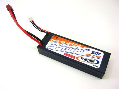Lipo Akku 2S 7,4V 50C 5400 mAh T-Plug Power Racing C-49010-D-Hoppe Corally