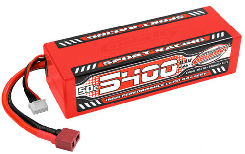 Team Corally C-49445 Sport Racing 50C Profi Lipo Akku 5400mAh 11,1V Stick 3S