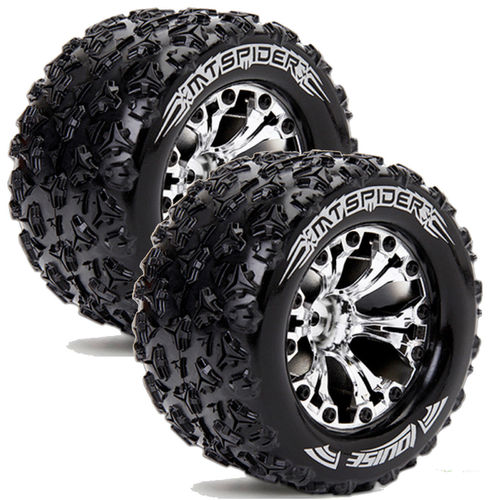 Louise RC - MT-SPIDER - 1-10 Monster Truck Tire Set - Mounted LR-T3203SCH