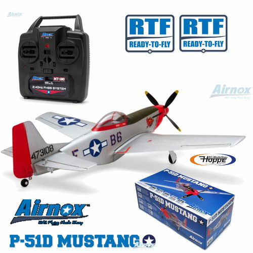 Airnox UMS P-51D Mustang RTF 4ch mit 3AXG Gyro AN10300 Ready-To-Fly