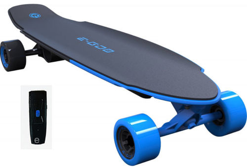 Yuneec E-GO 2 Elektro Skateboard Long Board Wave blau