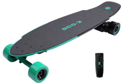 Yuneec E-GO 2 Elektro Skateboard Long Board Royal Wave grün EGO2CREU002
