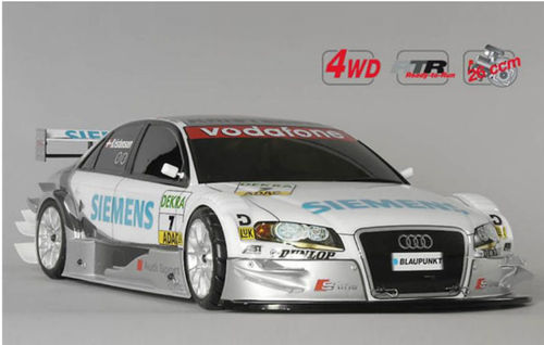 FG Modellsport RTR 4WD 530 chassis Siemens Audi lackiert 26 ccm