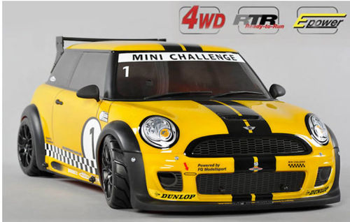 FG Modellsport RTR 4WD 510E Chassis gelb Trophy lackiert