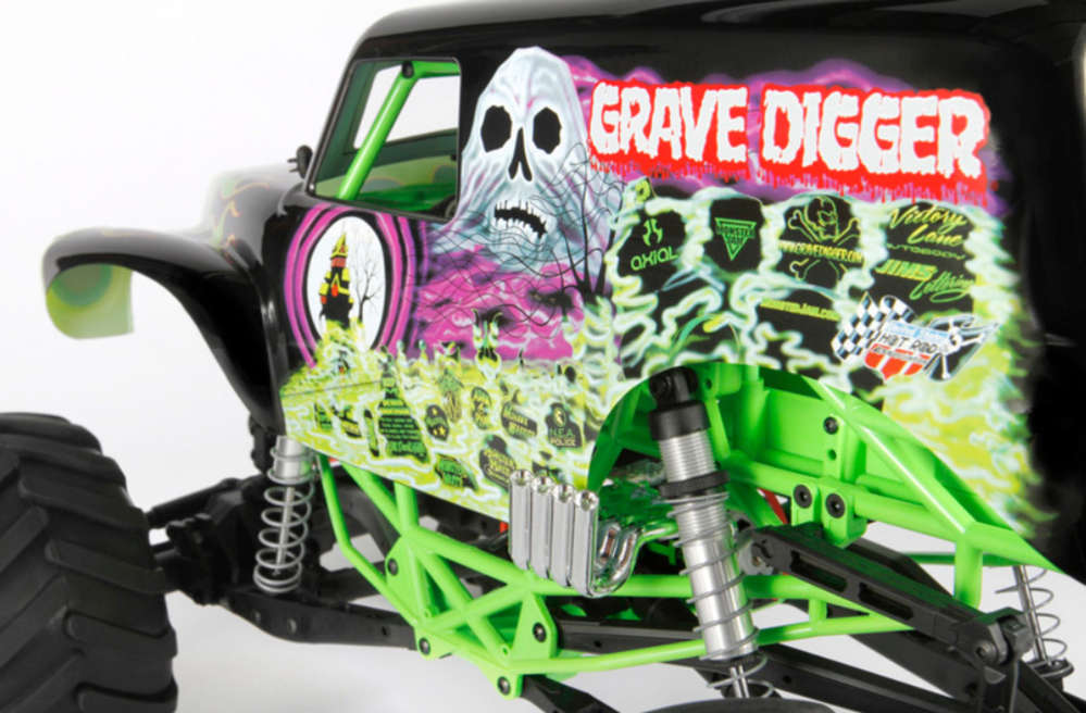 Axial SMT10 Grave Digger Monster Jam Truck 1-10 Electric ...