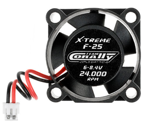 Team Corally C-53100 ESC Ultra High Speed Cooling Fan 25mm 6v-8,4V
