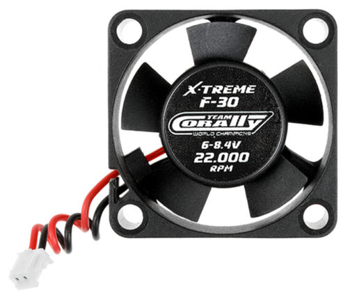 Team Corally C-53101 ESC Ultra High Speed Cooling Fan 30mm 6v-8,4V