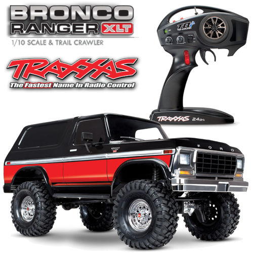Traxxas Ford Bronco 82046-4 rot TRX-4 1-10 1979er Crawler 2.4GHz 312mm Radstand
