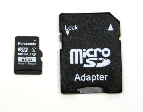 Yuneec YUN-0072 Micro SD Karte 16 GB mit Adapter