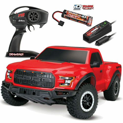 TRAXXAS Ford F-150 Raptor rot RTR +12V-Lader+Akku 1/10 2WD Brushed  TRX58094-1RED