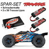 Traxxas E-Revo Brushless Monster Truck TRX86086-4 Orange SPAR SET + 2x 3S Lipos