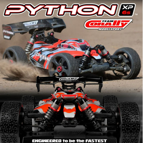 Team Corally Python XP 6S 1-8 Buggy EP RTR Brushless Power 6S ohne Akku und Ladegerät